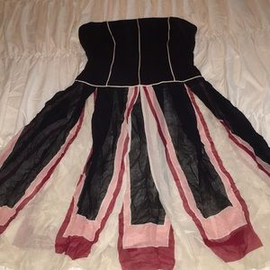 BCBG MAX AZRIA strapless dress corset like top